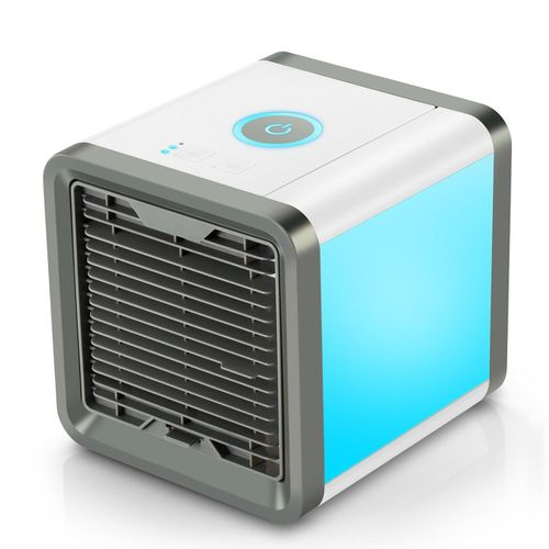 Personal Space 3 In 1 Air Purifier Humidifier Cooler Desktop Cooling Fan USB Mini Portable Air Conditioner Three Fan Speeds 4-Foot Cooling Area With 7 Colors LED Lights