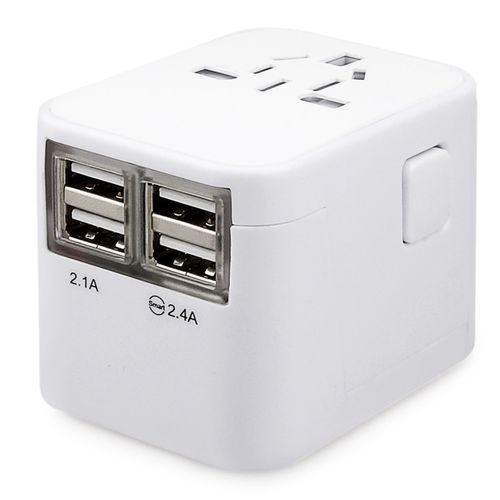 Portable Travel Charger Adapter 4 USB Power Plug Converter Wall AC