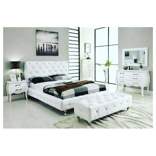 Frankswyte 6by7bed+Legrest+Drawer+Mirror-Free Lagos Delivery
