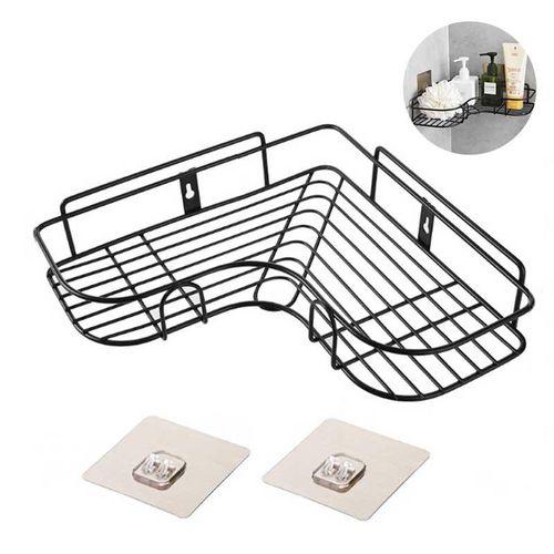 Corner Shower Caddy Corner Shelf Wall Mount No Drilling With 2 Sticker