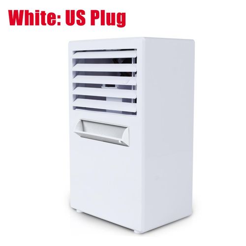 Mini Desktop Air Conditioner Fan Cooling Humidifying Blue/White