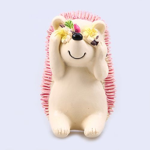 Honana Toothbrush Suction Holder Wall Mount Plug Socket Resin Shy Hedgehog