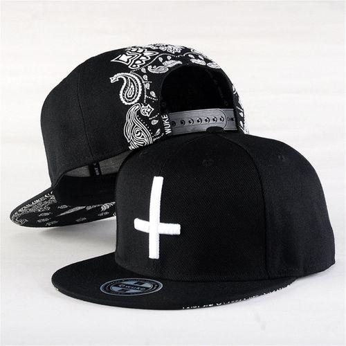 Men Women Cross Adjustable Brim Baseball Cap Hip Hop Hats