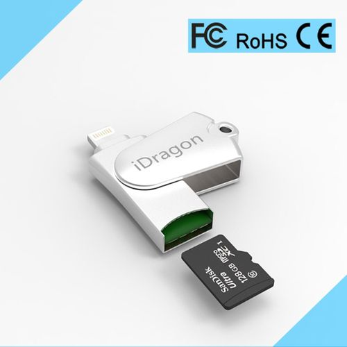 Suitable For Apple USB 2-in-1 OTG Card Reader