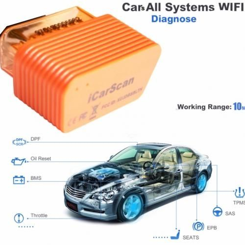 IcarScan Wifi/Bluetooth Cars Scanner Support Full Scanning ABS SRS With Programming