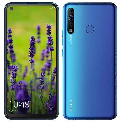 Camon 12 Air (CC6) 6.55-Inch(32GB ROM+3GB RAM) Android? 9 Pie, (16MP+5MP+2MP)+8MP 4G LTE Smartphone - Bay Blue