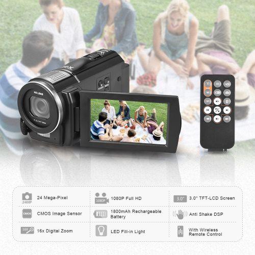 Andoer HDV-F5 1080P Full HD Digital Video Camera DV
