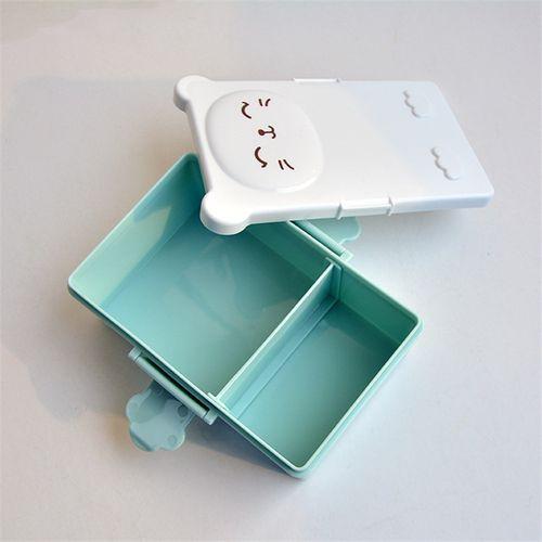 Mrosaa Korean Cartoon Lunch Box Food Container Picnic Storage Box Portable Bento Box Optional Student Lunch Box Dinnerware Sets