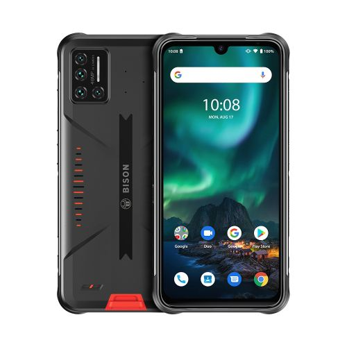 BISON Rugged Phone, 6GB+128GB, Quad Back Cameras, 6.3 Inch Android 10.0 4G - Orange