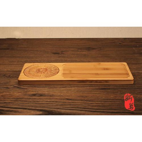 New Portable Rectangular Shape Bamboo Tea Tray Storage Kung Fu Tea Teapot Serving Board Tea Table