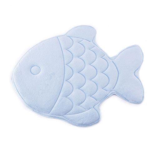 Honana Fish Shape Soft Coral Velvet Slow Rebound Memory Foam Absorbent Antiskid Bathroom Carpet Doormat