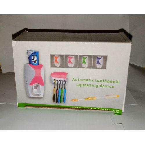 Tooth Paste Dispenser And Brush Holder
