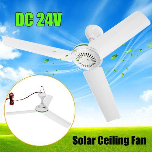 DC 24V Solar Power Ceiling Fan Portable Solar Fan With Switch 3 Blade Caravan Camp
