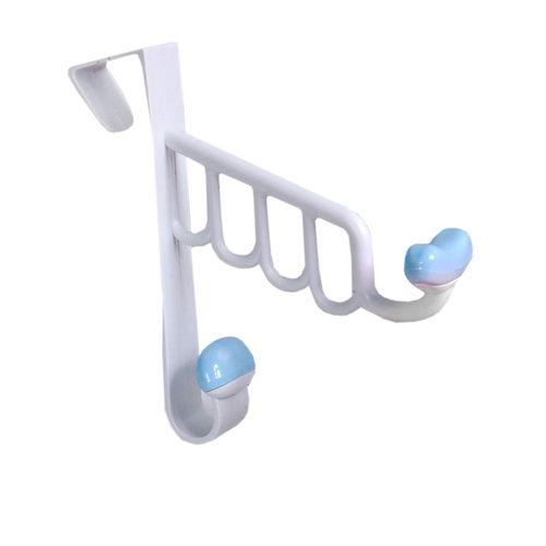 Over The Door Plastic Hook - Blue (set Of 4)