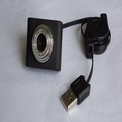 Laptop Camera USB Retractable Mini Video Head 120 Degree Wide Angle Computer Camera - Black Regular Version