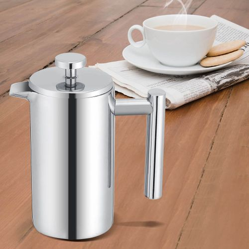 350ML Double Wall Stainless Steel Coffee Maker French Press Tea Pot With Filter
