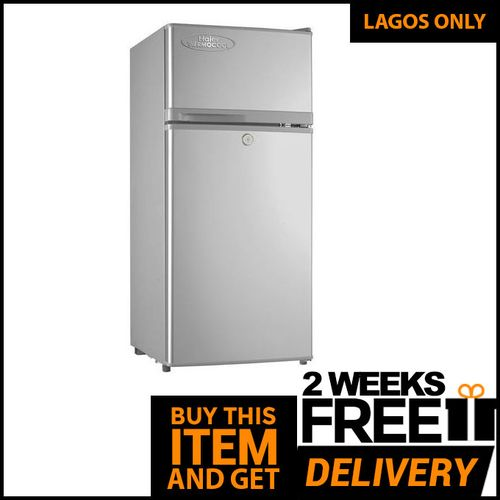 Double Door Fridge - HRF 95EX (BF 18)- Silver