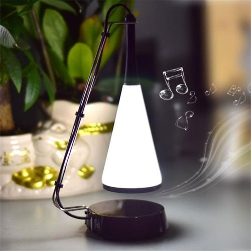 Music Desk Lamp LED Touch Lights Bedside Sound Lamp Charging USB Bluetooth Speaker Lighting White/0-5W