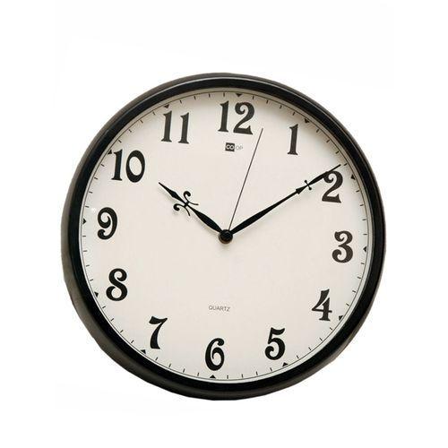 Quartz Domestic And Office Black Round Wall Clock - B7