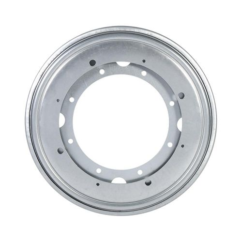 """Round Galvanized Turntable Bearing Rotating Swivel Plate (9"""" Silver)"""