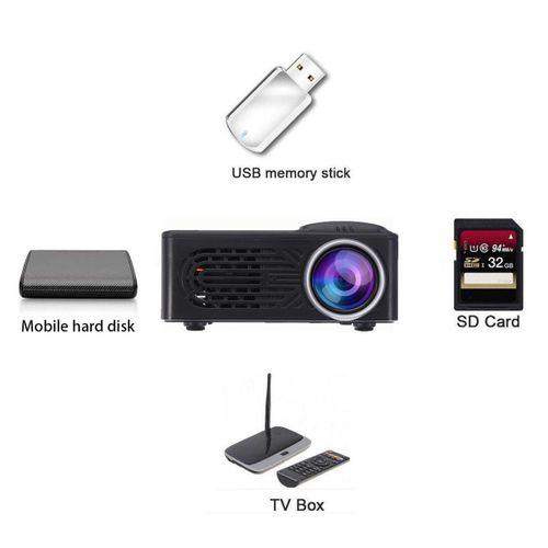 7000 Lumens HD 1080P LED Portable Projector Multimedia Home Cinema Video AU Plug