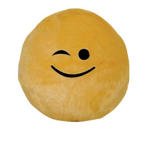 Smiley Throw Pillow (Wink)