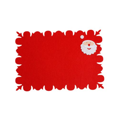 1PC Bowl Fork Placemat Mat Decoration Home Party Christmas Dining Table-Red