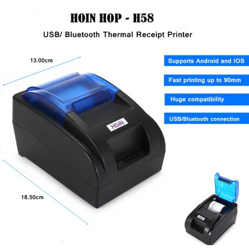 USB/Bluetooth Thermal Cash Receipt Printer POS Printing