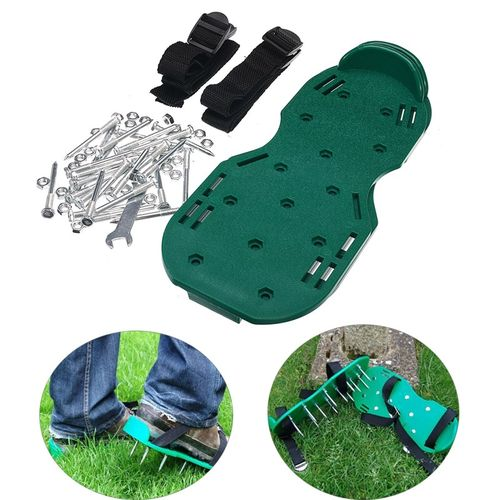 1 Pair PP Maunal Aerators Garden Cultivator Scarification Nail Shoes For Lawn Garden Patio Terrace Construction Industry