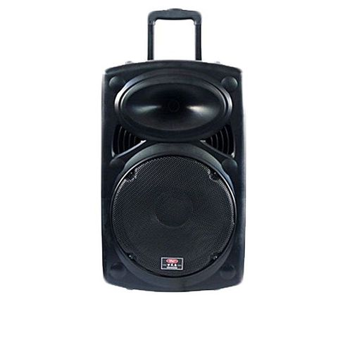 """15"""" Rechargeable X-Bass Bluetooth Public Address System With Wireless Microphones - D-15"""