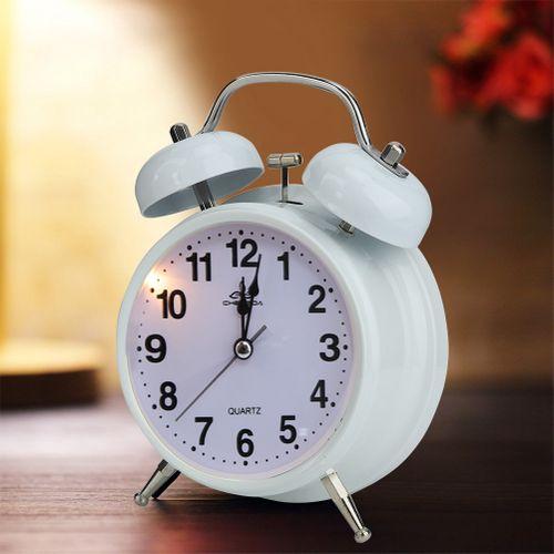 Alarm Clock Vintage Full Metal Cases Wake-Up Night Luminous Multiple Sound Cartoon Design Bell For Bedroom Heavy Sleepers