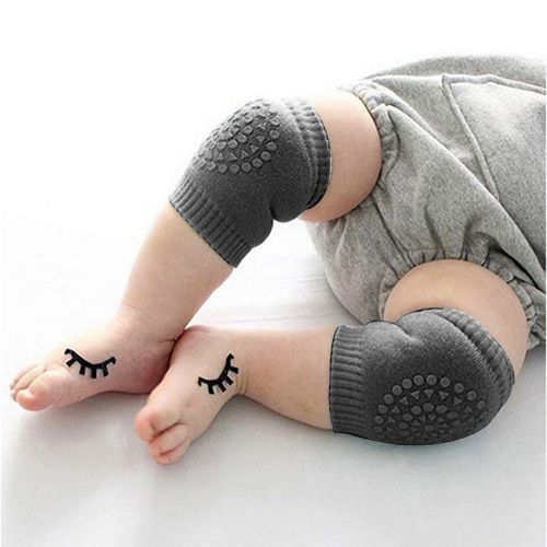 Newborn Baby Knee Pad Kid Safety Crawling Elbow Dark Gray