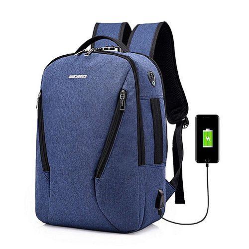Anti-theft Mens Womens Laptop Notebook Backpack USB Charging Port School Bag New#dark Blue
