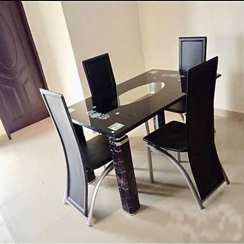 Rectangular Dining Table + 4 Sitting Chairs