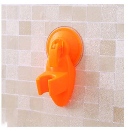 Practical Strong Sucker Shower Seat Stand Base Shower Suction Cup Holder Orange