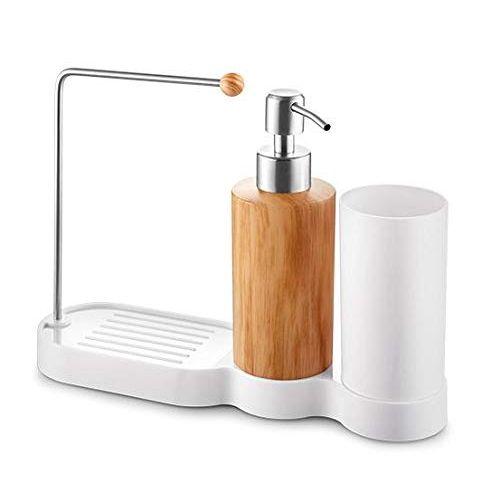 Sink Organizing Holder With Dishwashing Soap Dispenser