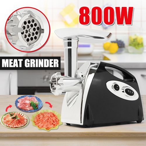 3 Cutting Plates + Sausage Adaptors Electric Meat Grinder Sausage