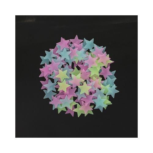 100pcs Home Wall Light Green Star Stickers Decal Baby Room