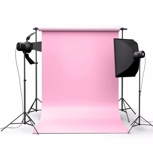5x7FT Pure Pink Color Photography Background Backdrop Photo