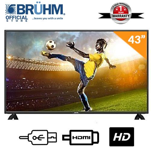 Bruhm BFP -43LEW 43-Inch LED TV- Black with Free Wall Bracket + 12 Months Warranty