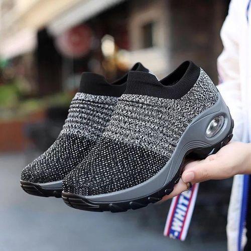Unique Female Sneakers Grey N Black