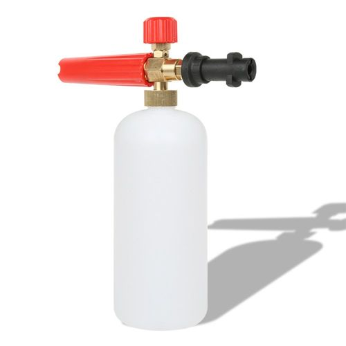 Professional Adjustable Brass Snow Foam Lance Nozzle Cannon Bottle Red