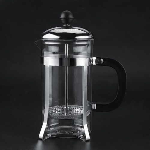 Multifunctional Transparent Stainless Steel Coffee Pot With Handle Home Office 600ml