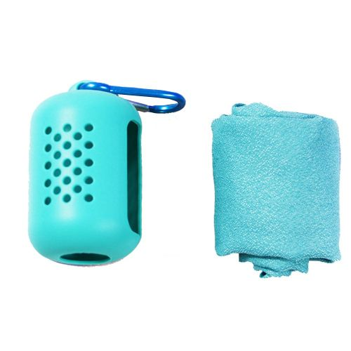 Outdoor Travel Portable Quick-Drying Towel Microfiber Sports Cold Towel Light Blue