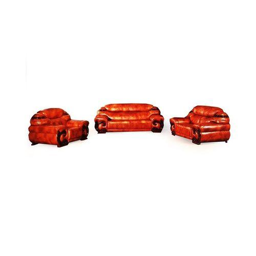 Brown Leather 7 (1+1+2+3) Seater Sofa (FREE SHIPPING Lagos)