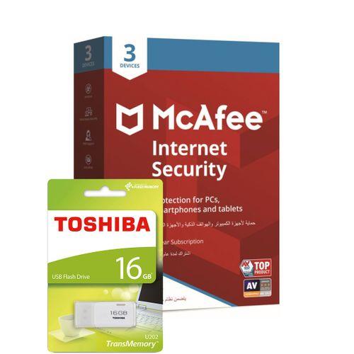 Internet Security 3 Devices & Toshiba USB Flash Drive 16GB