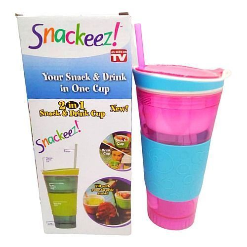 Snack & Drink Cup - Pink