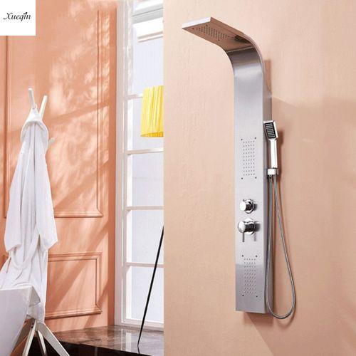 Nickel Shower Panel Tower Rainfall Waterfall Massage System