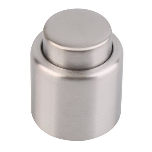 Stainless Steel Sealed Pump Champagne Cork Wine Storage Bottle Stopper Cap Silver