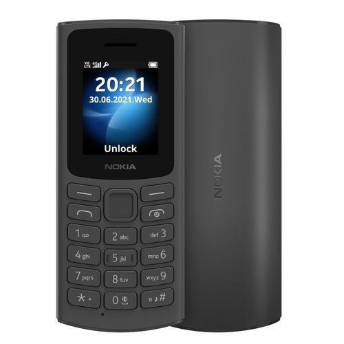 "105 4G 1.8"" Dual SIM, Torch, Wireless FM Radio Phone - Black"
